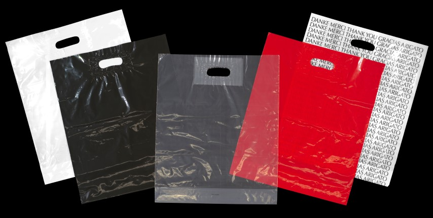 100pcs/lot Transparent Bags Shopping Bag Supermarket
