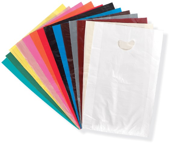 Custom Die Cut Handle Bags Wholesale Die Cut Plastic Bags