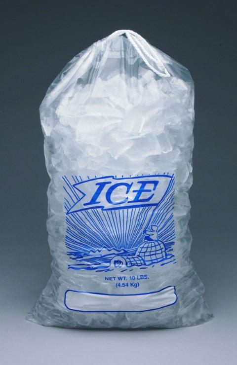 Drawstring Printed Ice Bags Metallocene Ice Bags