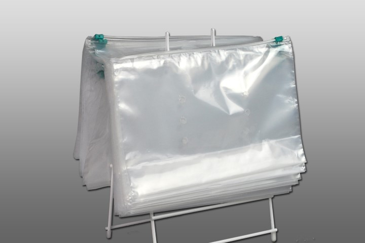11x7x3bg Saddle Pack Deli Bags Slider Zip Top