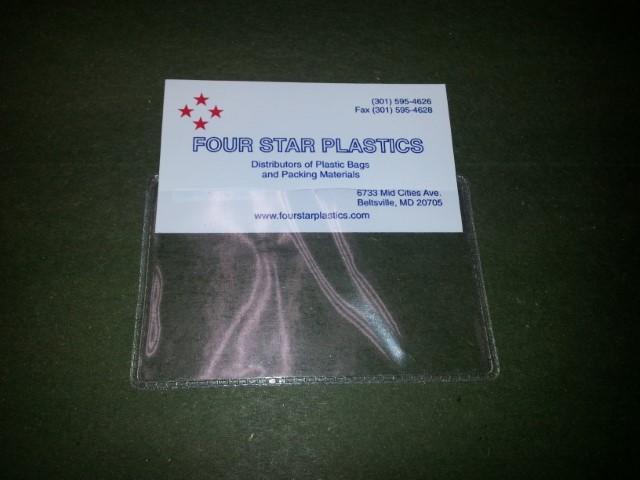 3.375 x 2.125 Vinyl Business Card Holder
