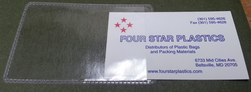 3.375 x 2.125 Vinyl Business Card Holder